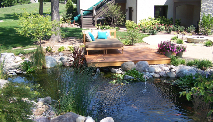 Pond & Deck :: A Relaxing patio to enjoy the pond