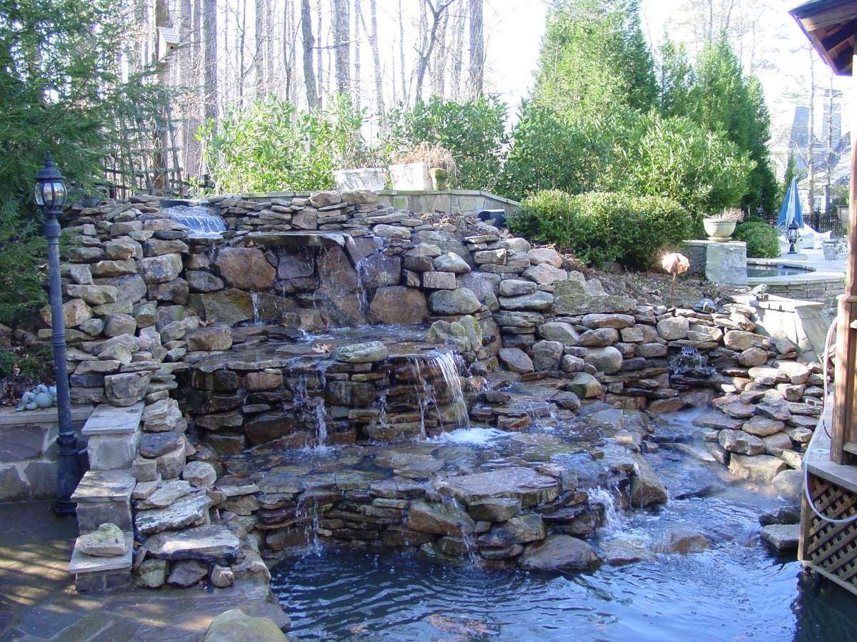 Pond blog backyard blessings for Garden pond waterfall ideas